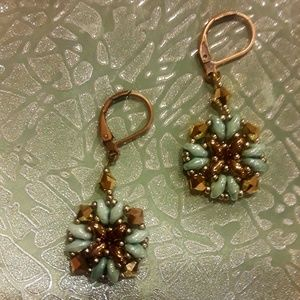 Genuine Swarovski beaded earrings